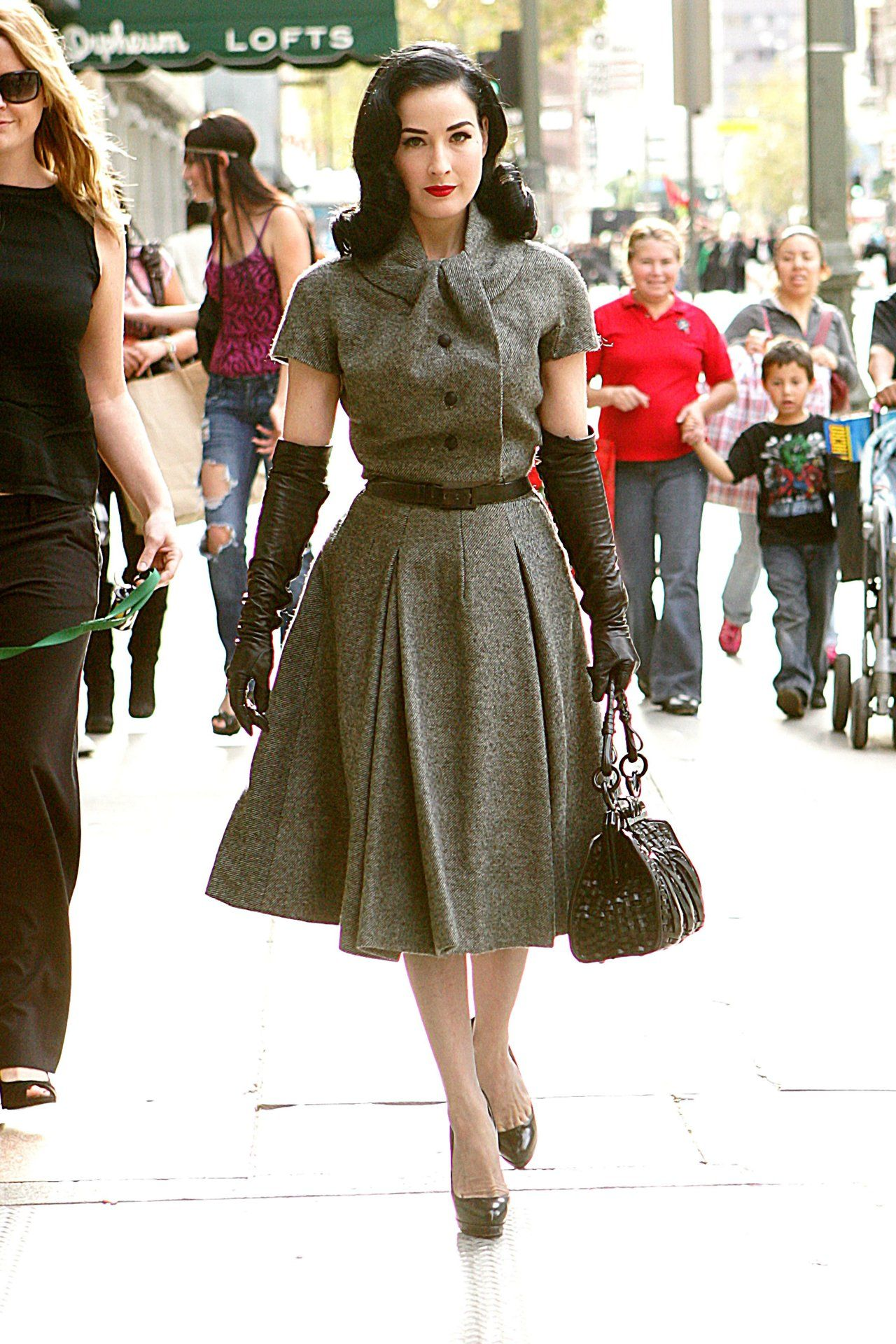 Dita Von Teese in vintage 1950's Dior she is just a living doll