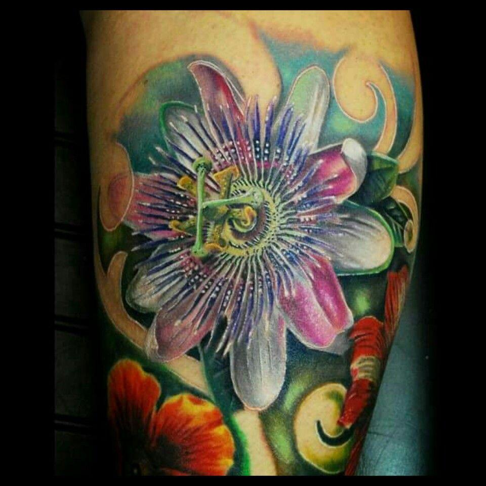 Photo Gallery Kim Warner Garden Designs Flower Tattoo Passion Flower Tattoos