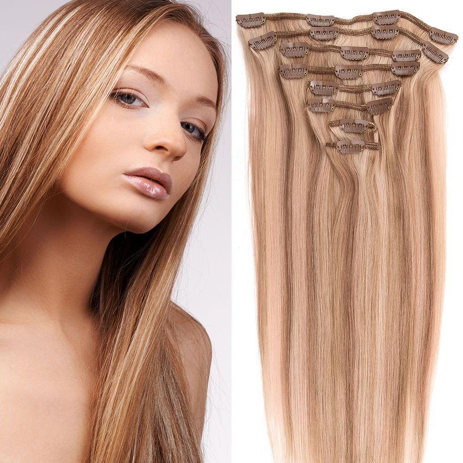 Verkaufsförderung Durchsuchen Sie die neuesten Kollektionen klar in Sicht Remy Haarverlängerung Clip in Extensions Echthaar Set Echte ...