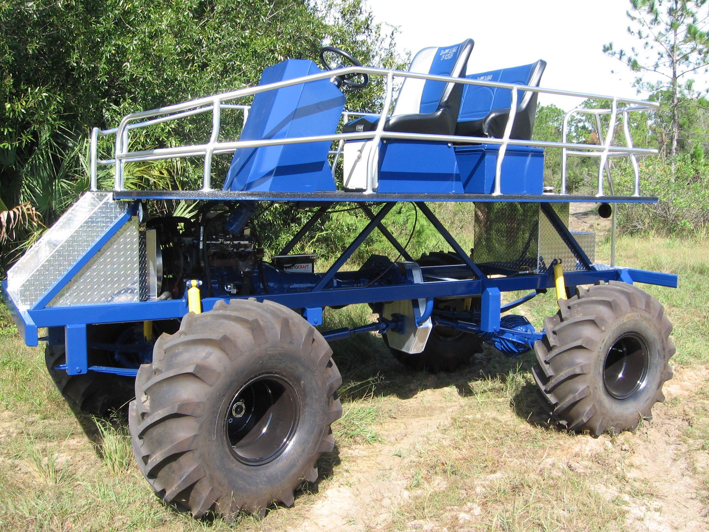 Swamp Buggy Parts   Engine SBFL Belt Drive 2 Front Bucket Seats Rear 3-person Bench .