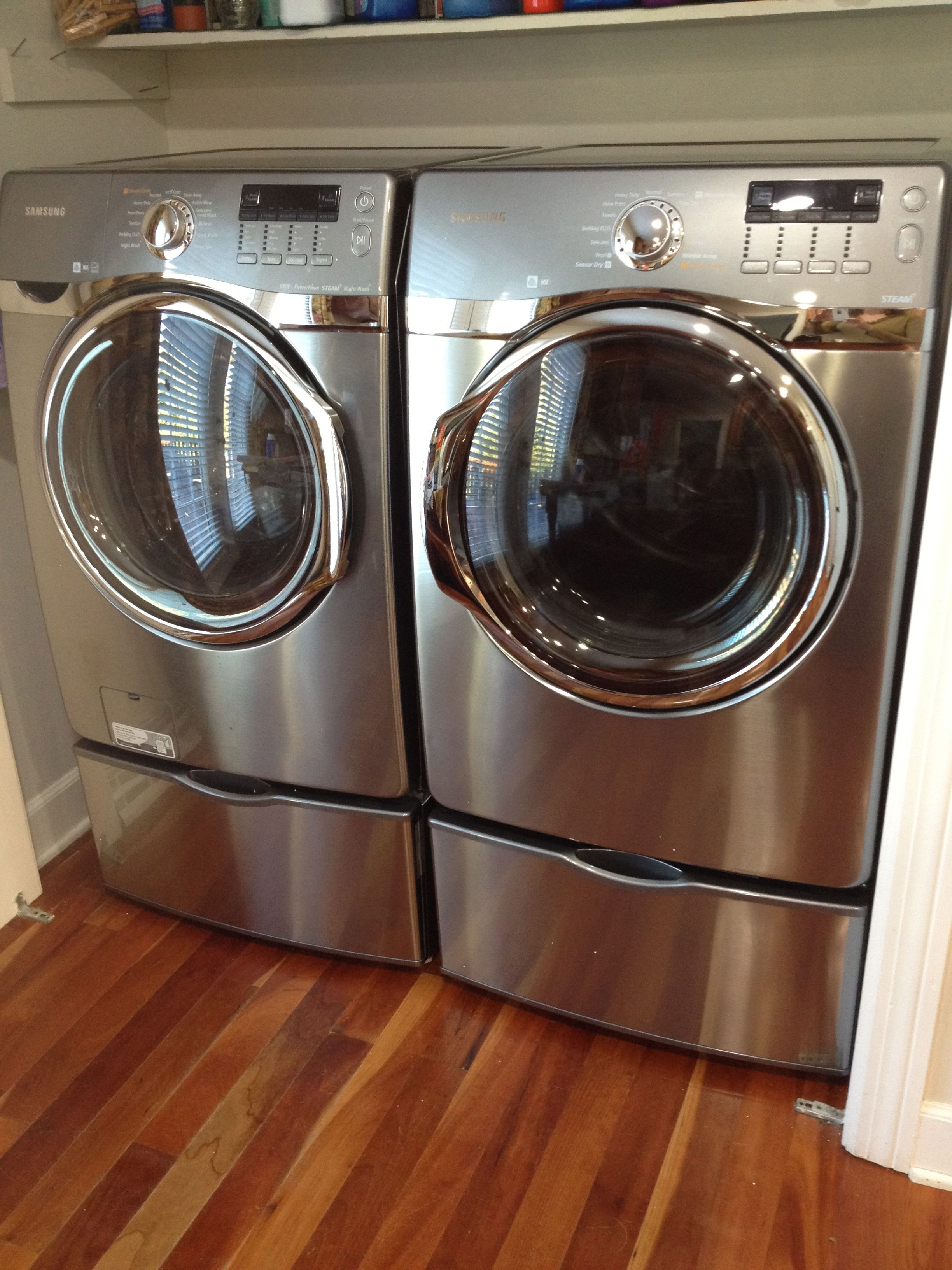 Love my samsung steam washer and dryer laundry room