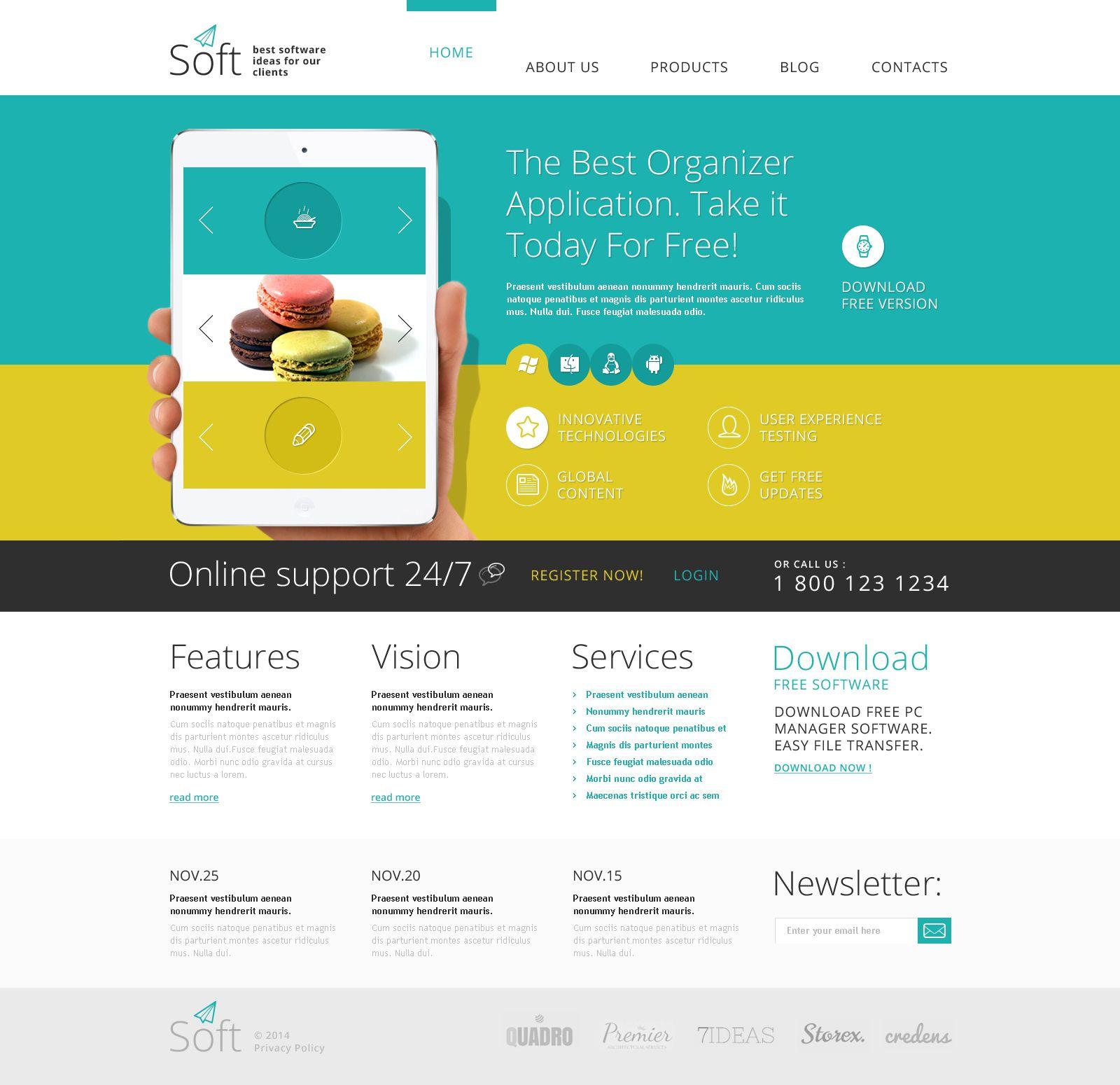 Software Joomla Template 48765 Joomla Templates Website Design Tutorial Website Template Design