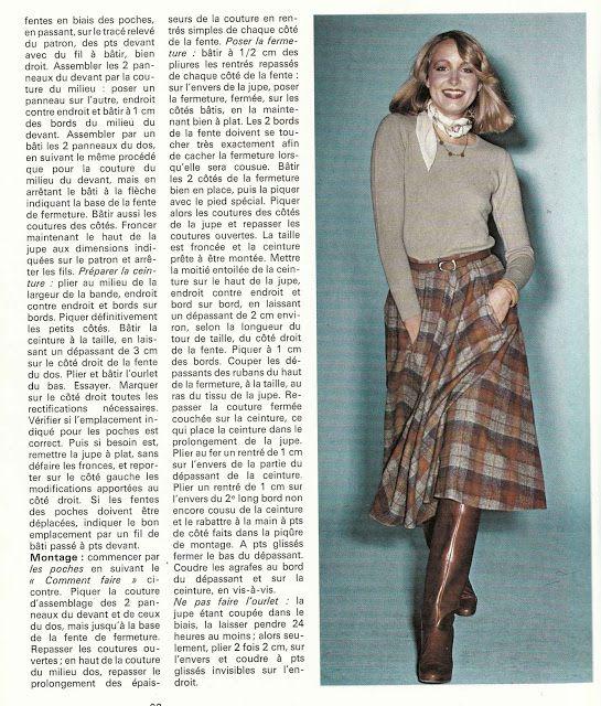 DIY vintage, couture, tricot, loisirs créatifs, années 70: Comment réaliser 4 jupes faciles ?