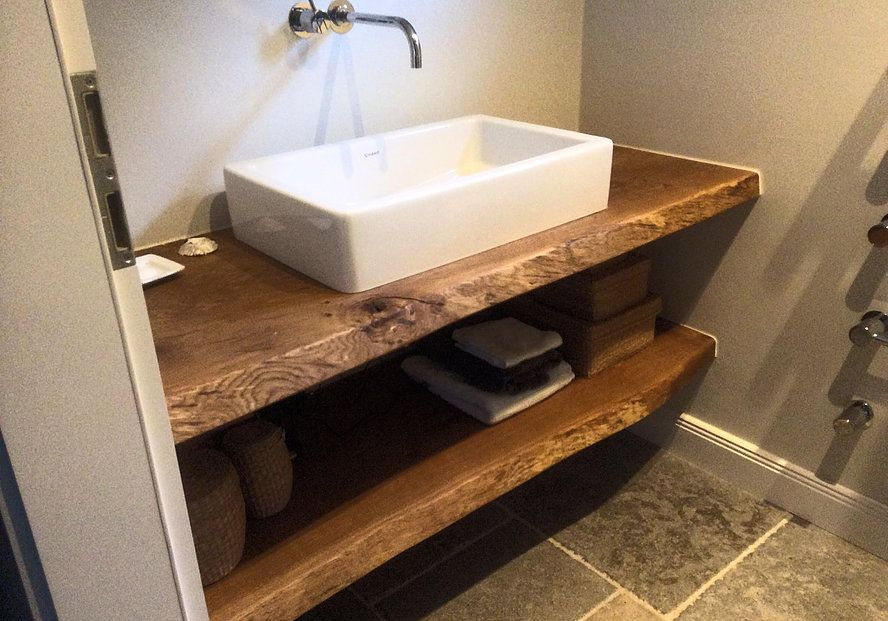 waschtisch konsole waschtischkonsole waschtischplatte massiv aus holz auf ma eiche holzwerk. Black Bedroom Furniture Sets. Home Design Ideas