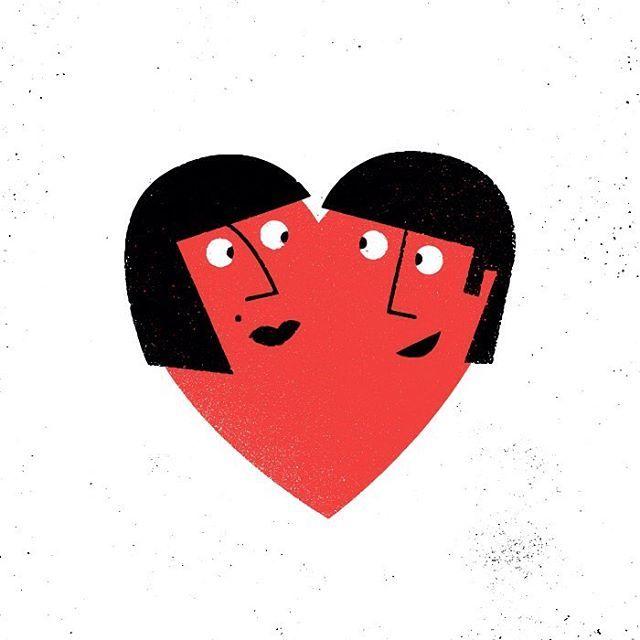 """""""Be mine?"""" ❤️❓ """"Hmmmmmmaybe..."""" #illustration #drawing"""