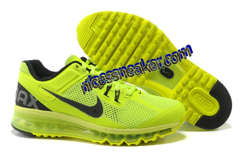 Save Up To 72% Womens Nike Air Max 2013 Volt Black Shoes        #Volt  #Womens #Sneakers