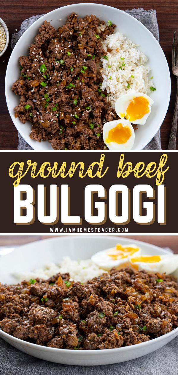 Easy Ground Beef Bulgogi Recipe In 2020 Ground Pork Recipes Ground Beef Recipes For Dinner Bulgogi Recipe Easy