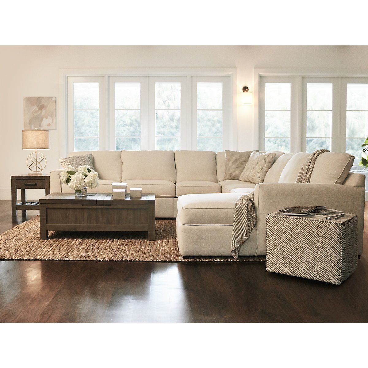 Pleasant City Furniture Asheville Light Taupe Fabric Large Right Dailytribune Chair Design For Home Dailytribuneorg