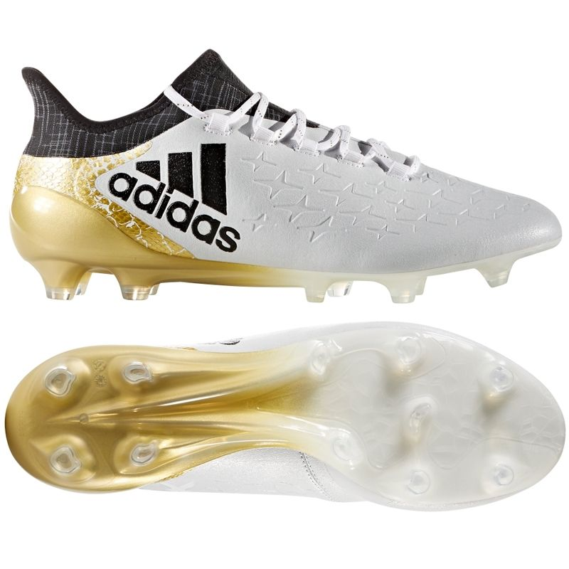 Adidas X 16 1 Fg Soccer Cleats White Black Gold Metallic Adidas Soccer Cleats Free Shipping S81944 Adidas X Soccer Cleats Soccercorner Com Soccer Cleats Soccer Cleats Adidas Soccer Shoes