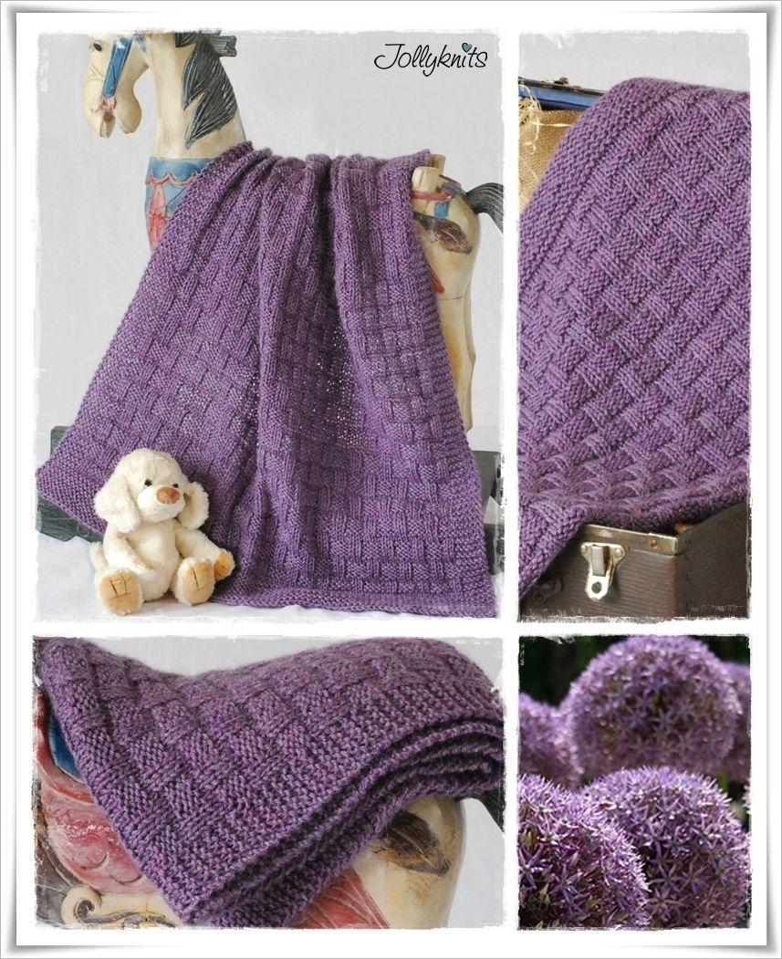 CHESS Strickanleitung Babydecke / Knitting pattern for Baby Blanket ...