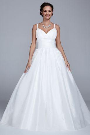 David's Bridal Empire Waist Wedding Dress