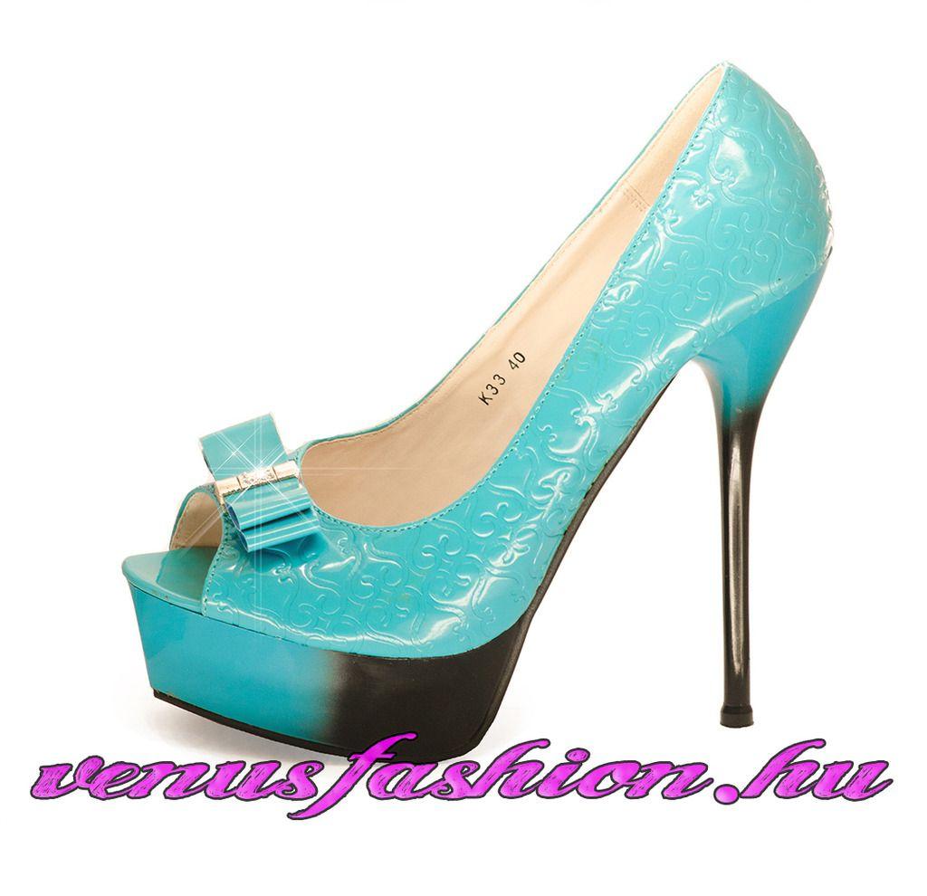 0f84e05d61 Divatos égszínkék platform tűsarkú cipő - Venus fashion női ruha webáruház