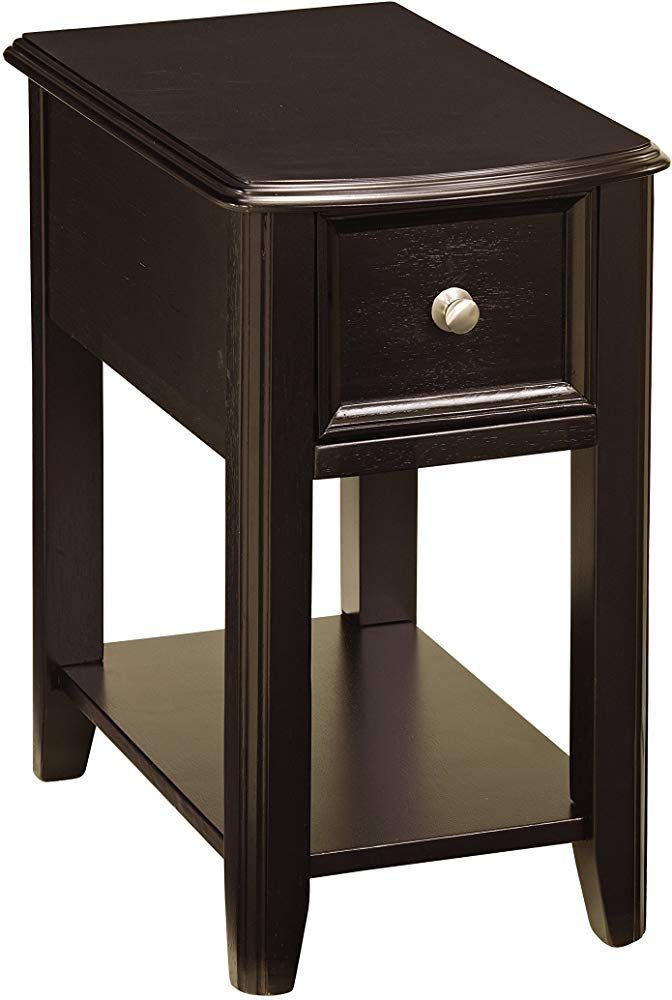 Signature Design By Ashley Contemporary Chair Side End Table Black Finish Furniture Furnitureideas Furnitureideaslivingroom Living Livingroom Li