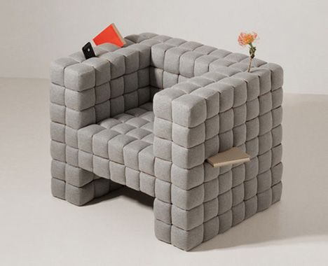 Lost Found Comfy Chair Cushioned with BuiltIn Storage You can