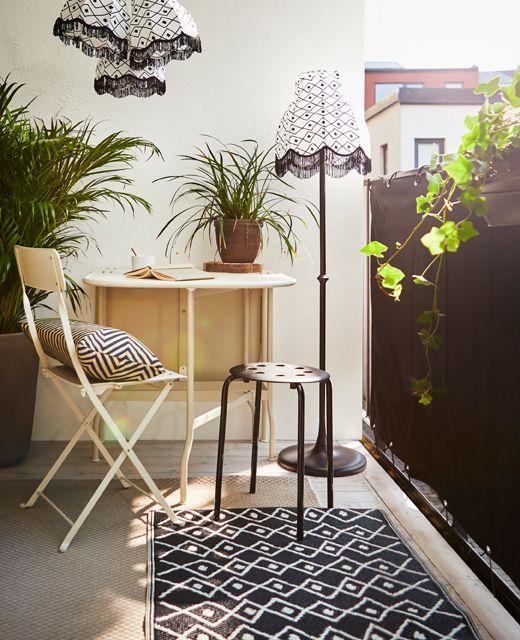 Sichtschutz/Balkon DYNING weiß Idee per il balcone