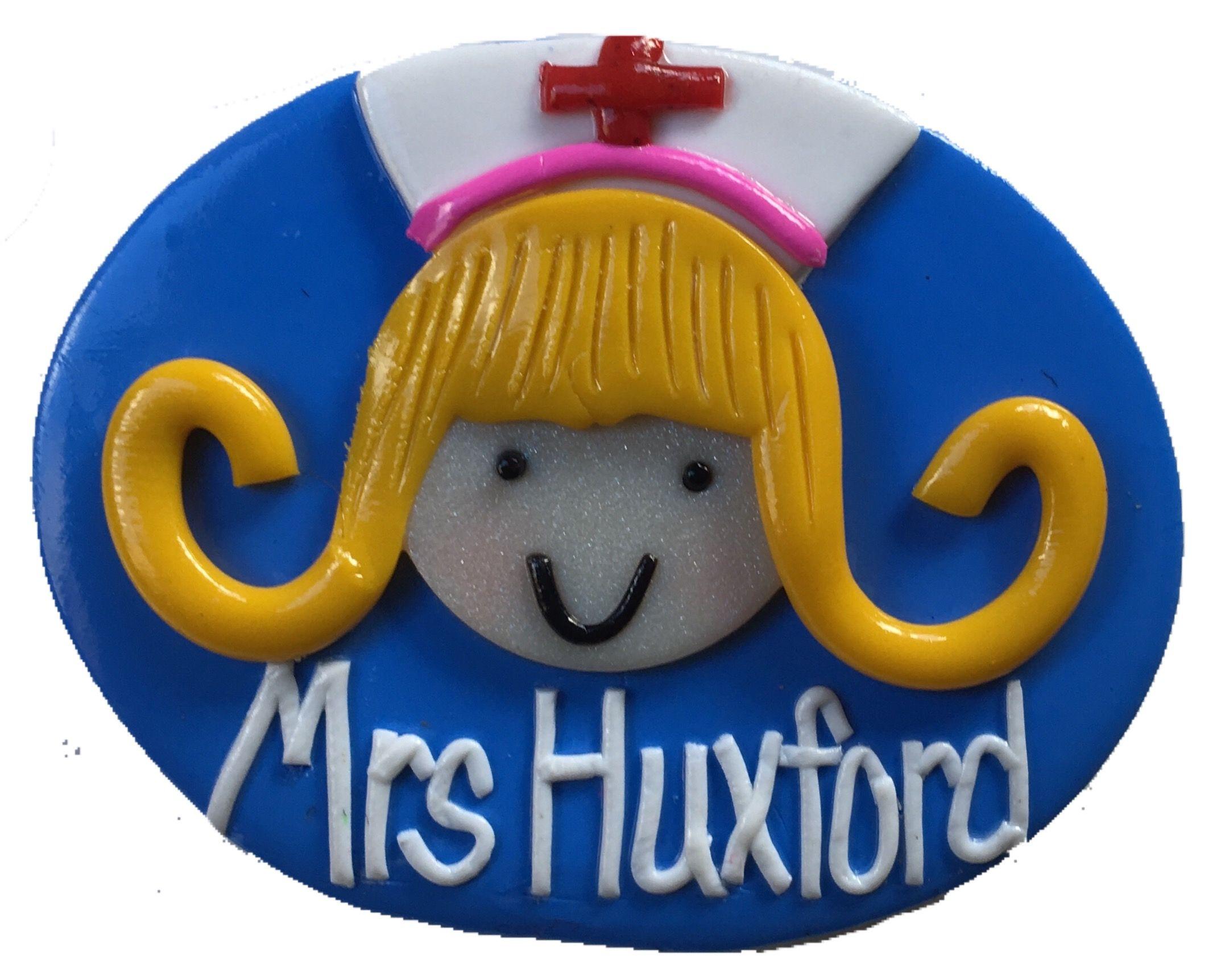 Nursing name badge personalised custom made nurse badge