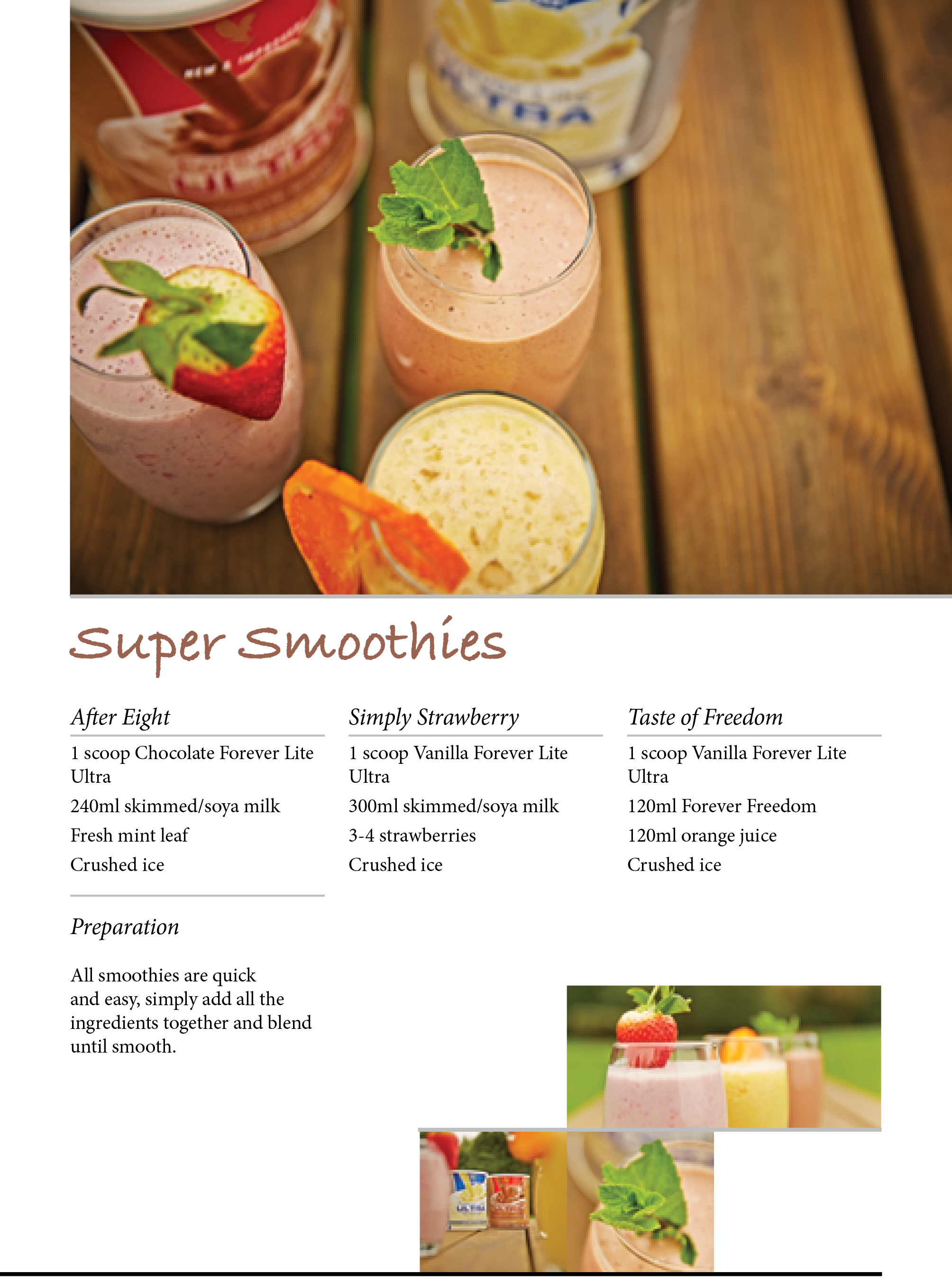 Super Smoothies - All smoothies are quick and easy, simply add all the ingredients together and blend until smooth #ForeverTreats