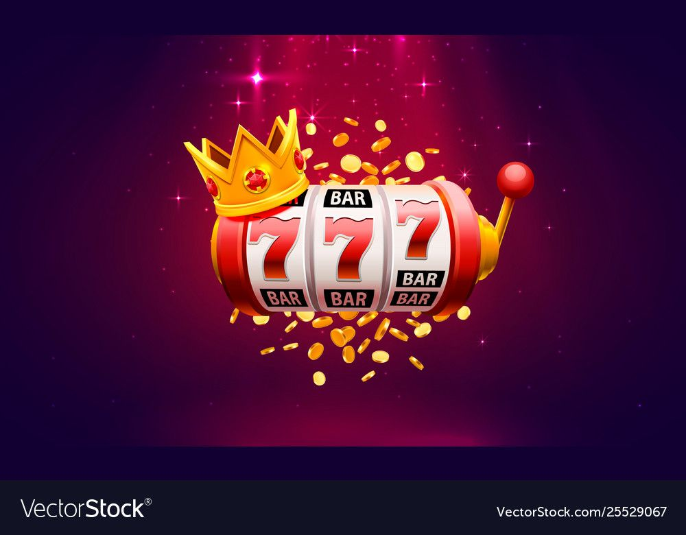 Casino 777 slot label winner banner signboard Vector Image