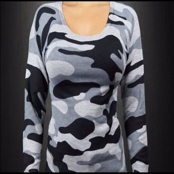 Soft Camouflage Sweatshirt! Brand New! Never worn. Very soft material. Great material! Sweaters