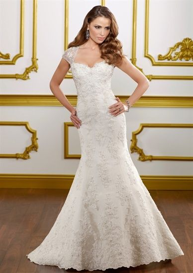Mori Lee Lace Cap Sleeve Dress Alyssa S Bridal Tulsa Ok Wedding