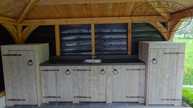 Mooie buitenkeuken van steigerhout! Keuken/badkemer ideeen Pinterest - Terrasse Bois Pilotis Prix