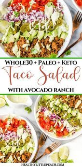 A quick and easy Taco Salad that is filled with savory ground beef, fresh veggie... - #groundbeeftacos