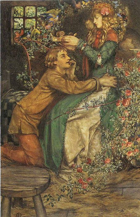 Eleanor Fortescue Brickdale The Gilded Apple Fine Art Greeting Card