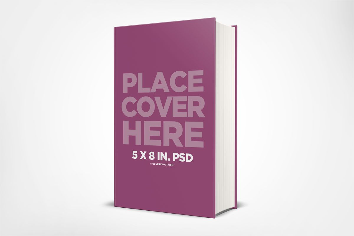 5 × 8 책 모형의 하드 커버 서 템플릿