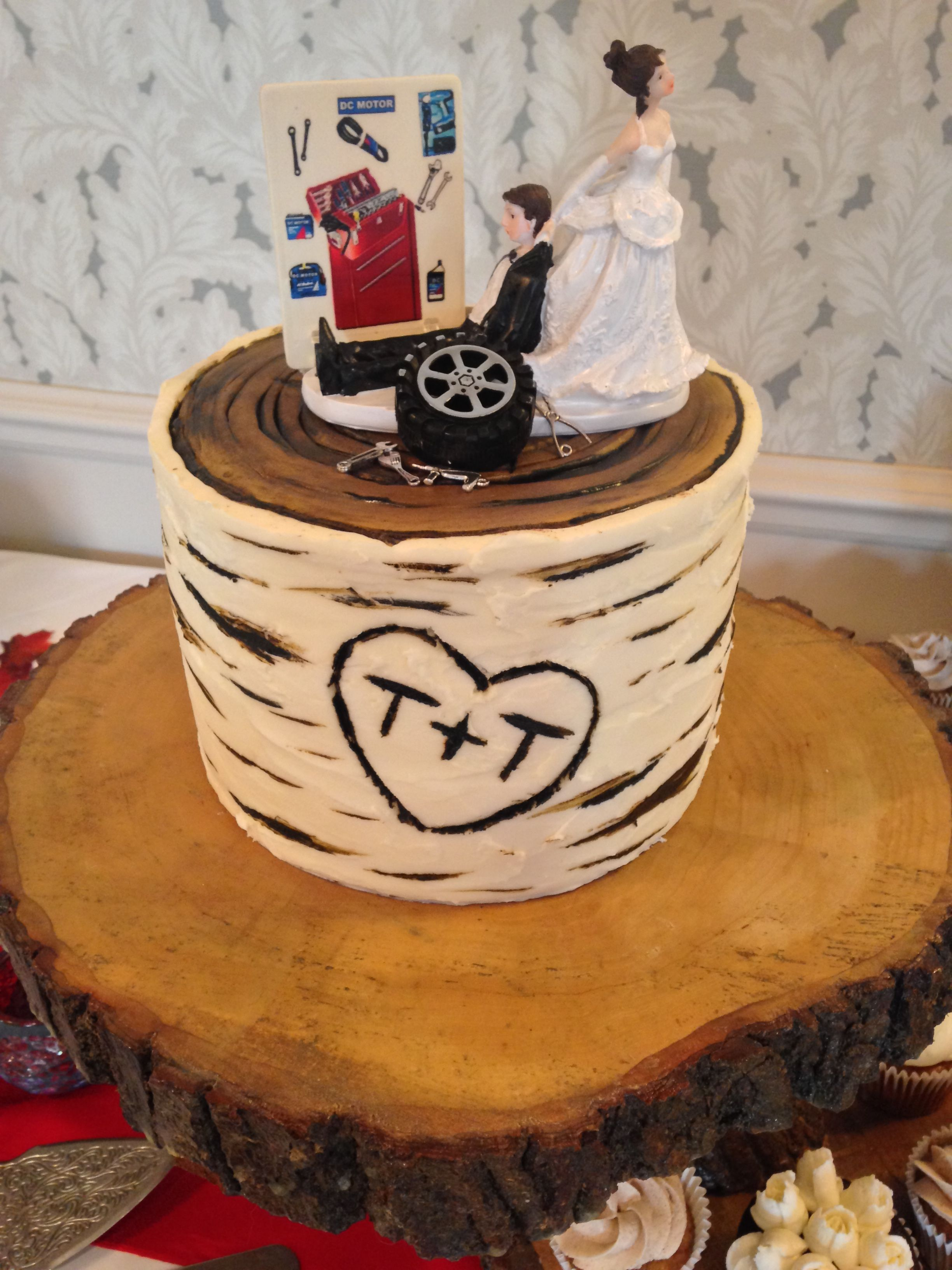 Birch bark wedding cake cake desserts wedding cakes