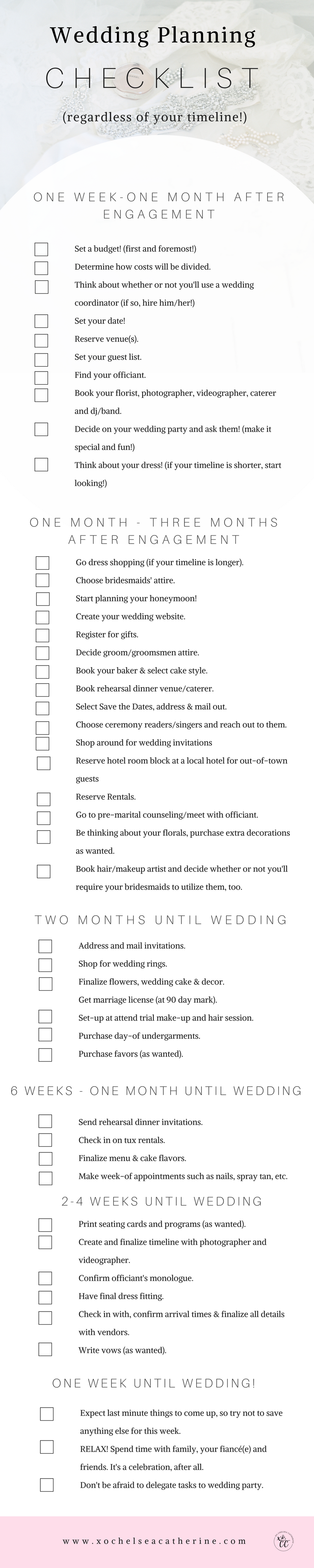 Complete Wedding Planning Checklist Regardless Of Your Timeline