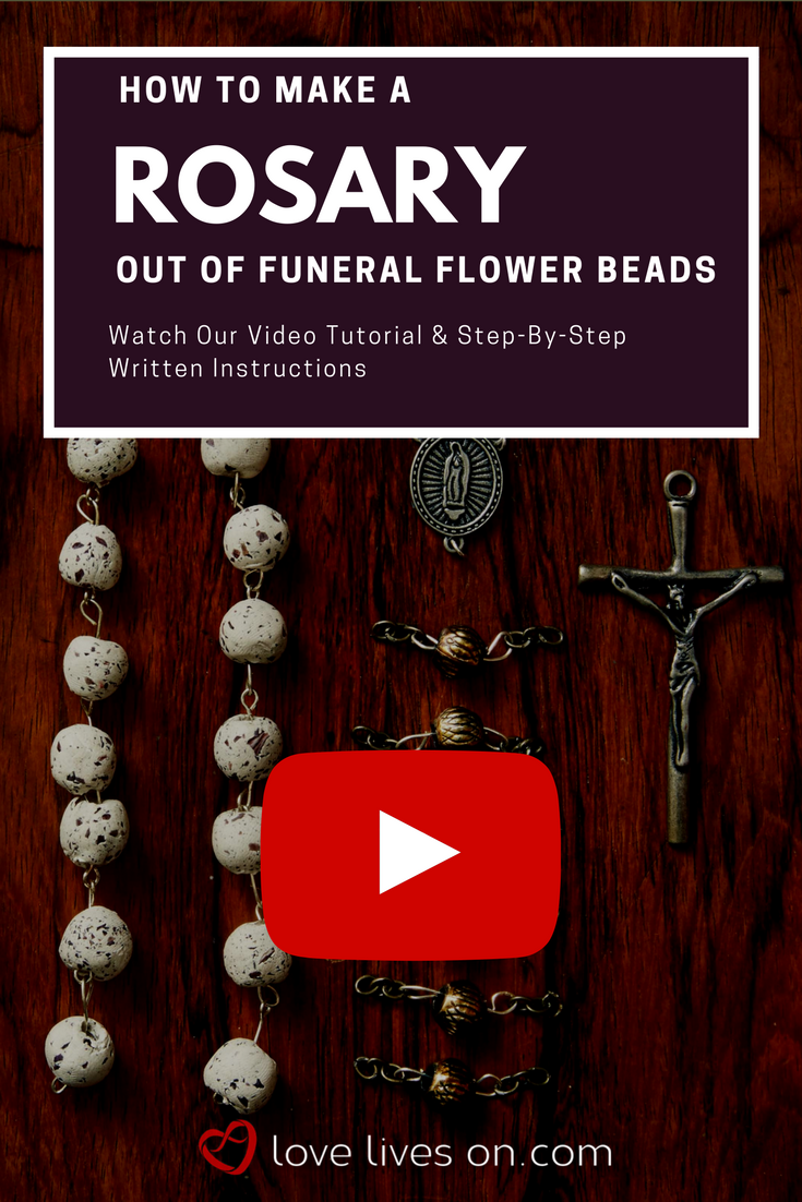 How to make a rosary funeral flowers funeral and beads click to watch our full video tutorial on how to make your own commemorative rosary out izmirmasajfo