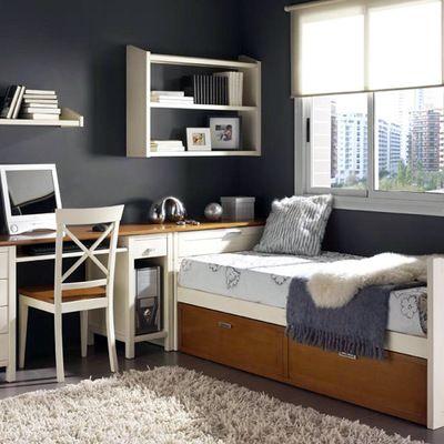 Dormitorio juvenil cama nido dormitori pinterest for Decoracion dormitorios juveniles masculinos