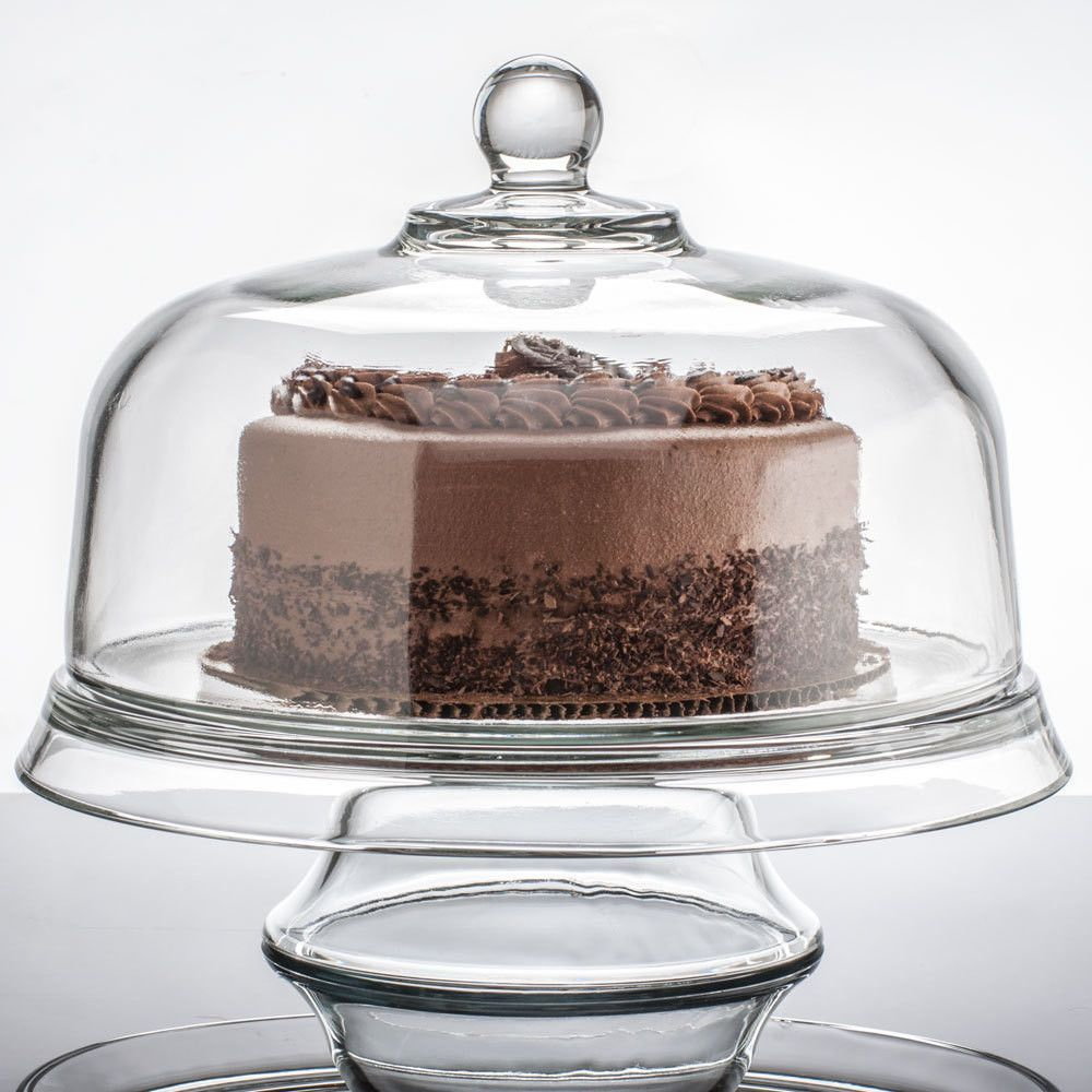 Anchor hocking presence 4in1 glass cake set glass