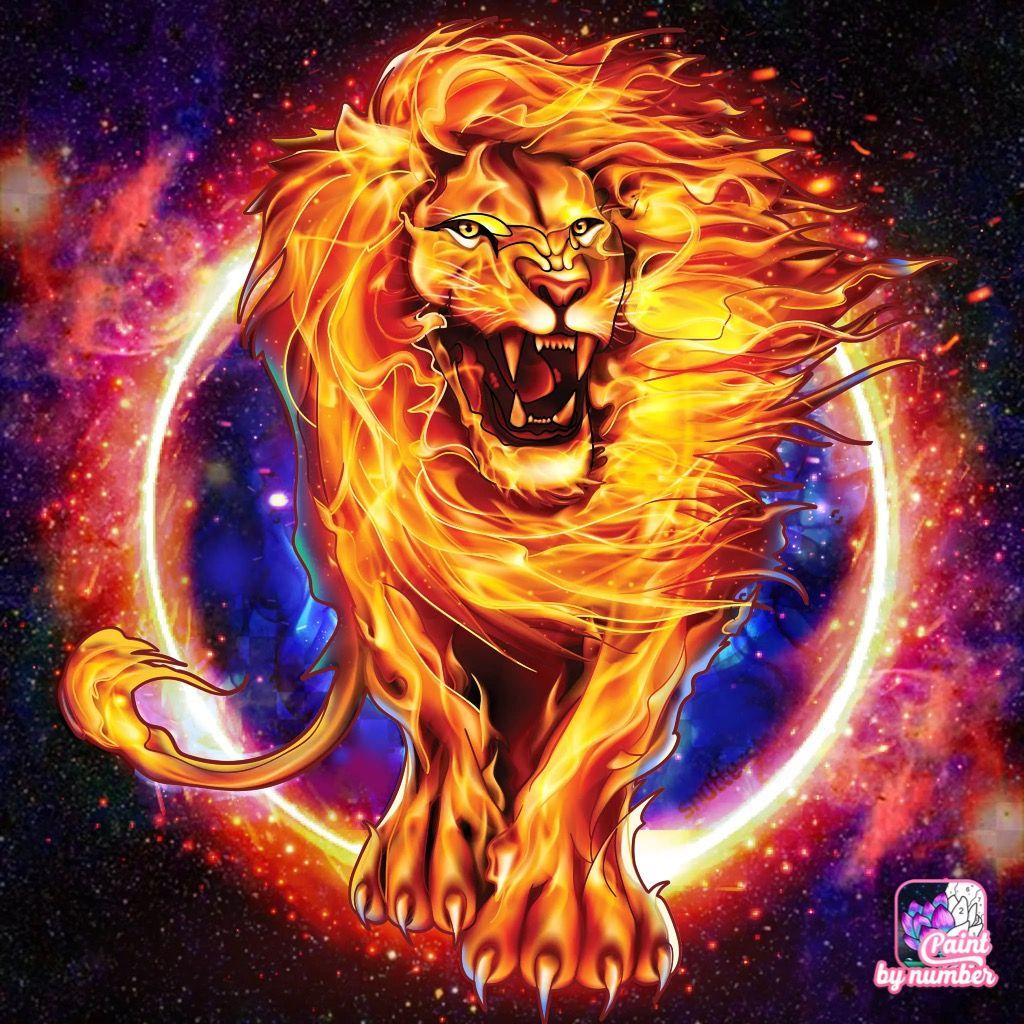 Fire Lion Rasta Art Lion Art Big Cats Art