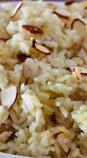 Saffron Almond Rice Pilaf #ricecookermeals
