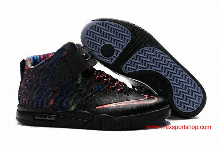 a5a6d15b72b LeBron James XIII Nike Air Akronite Black Colorful Basketball Shoes  72.00