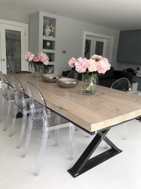 Reclaimed Wood Metal Cross Leg Base Dining Table Www Reclaimedbespoke Co Uk