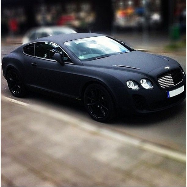 Perfect Car All Round Matte Black Continental Gt Smooth
