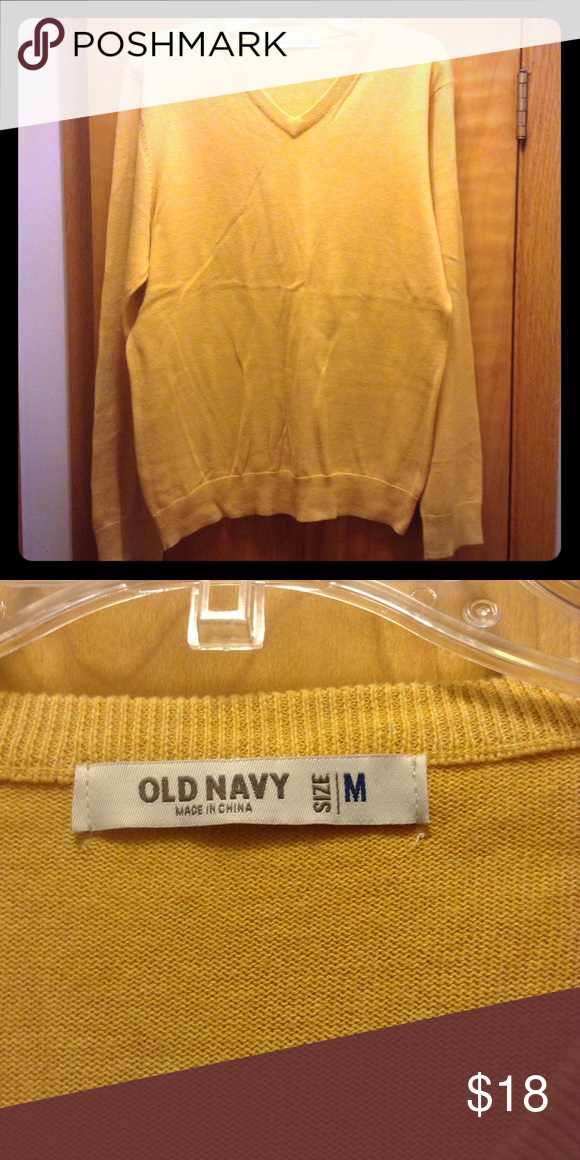 Mustard v-neck sweater Mustard old navy v-neck sweater Old Navy Sweaters V-Neck