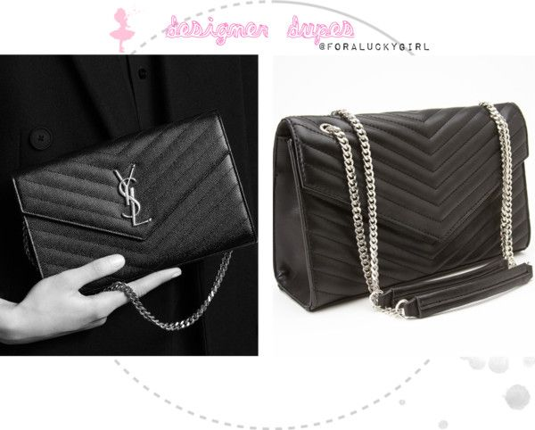 Designer Handbag Dupes Saint Laurent Monogram Chain Wallet   For A Lucky  Girl 829034a887