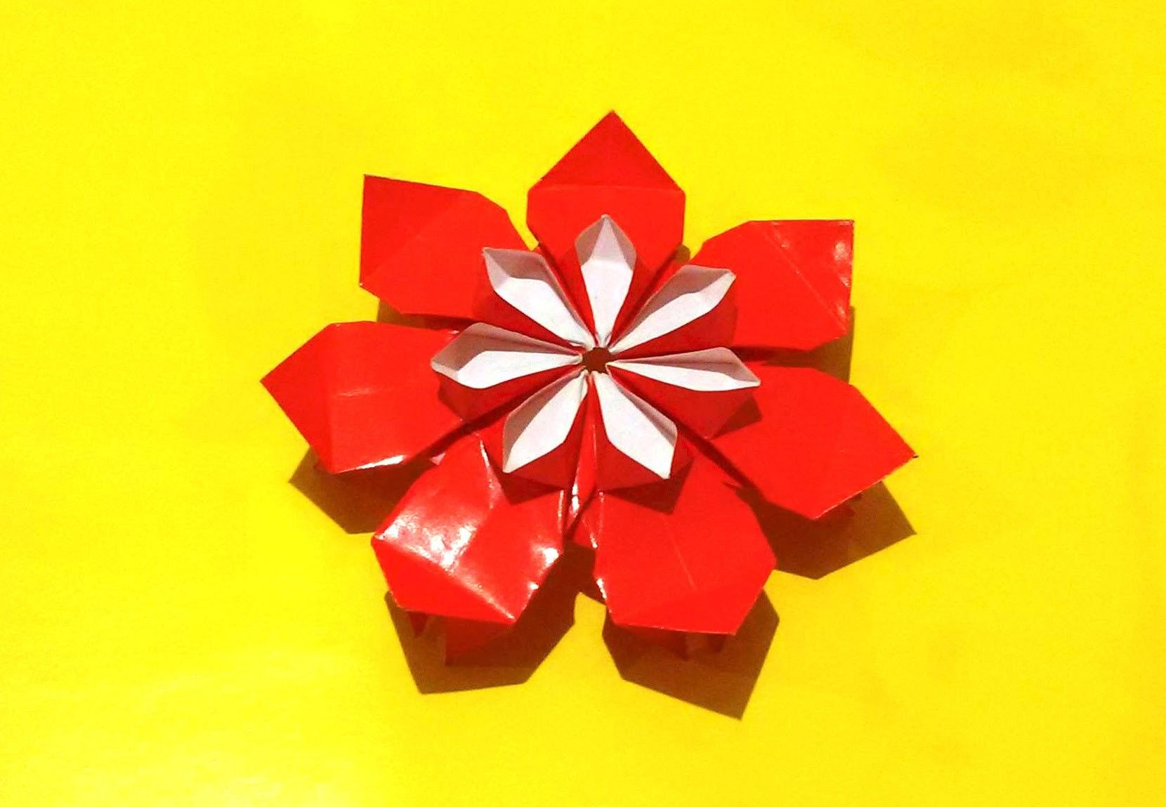 Amazing Origami Flower Dairy Decor Flower Christmas Ornaments