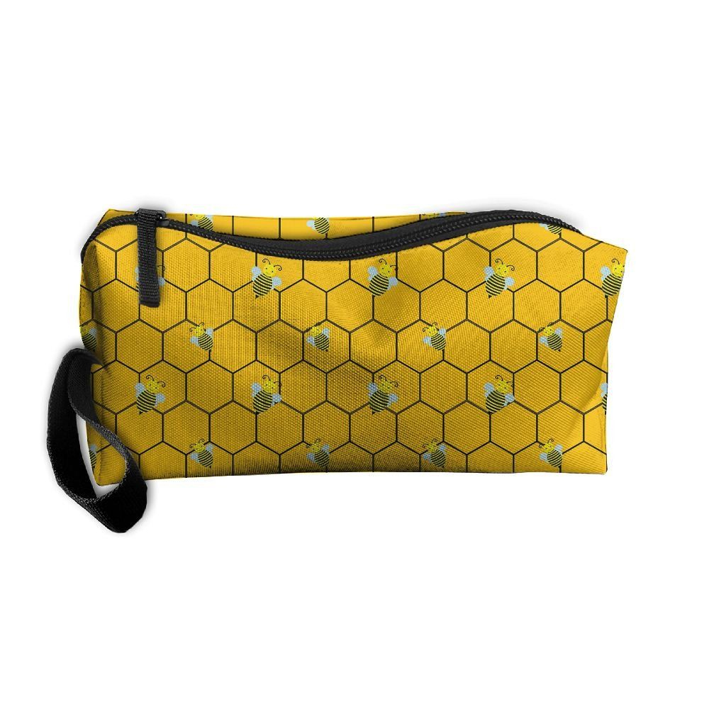 Portable Travel Storage Bags Yellow Bees Clutch Wallets