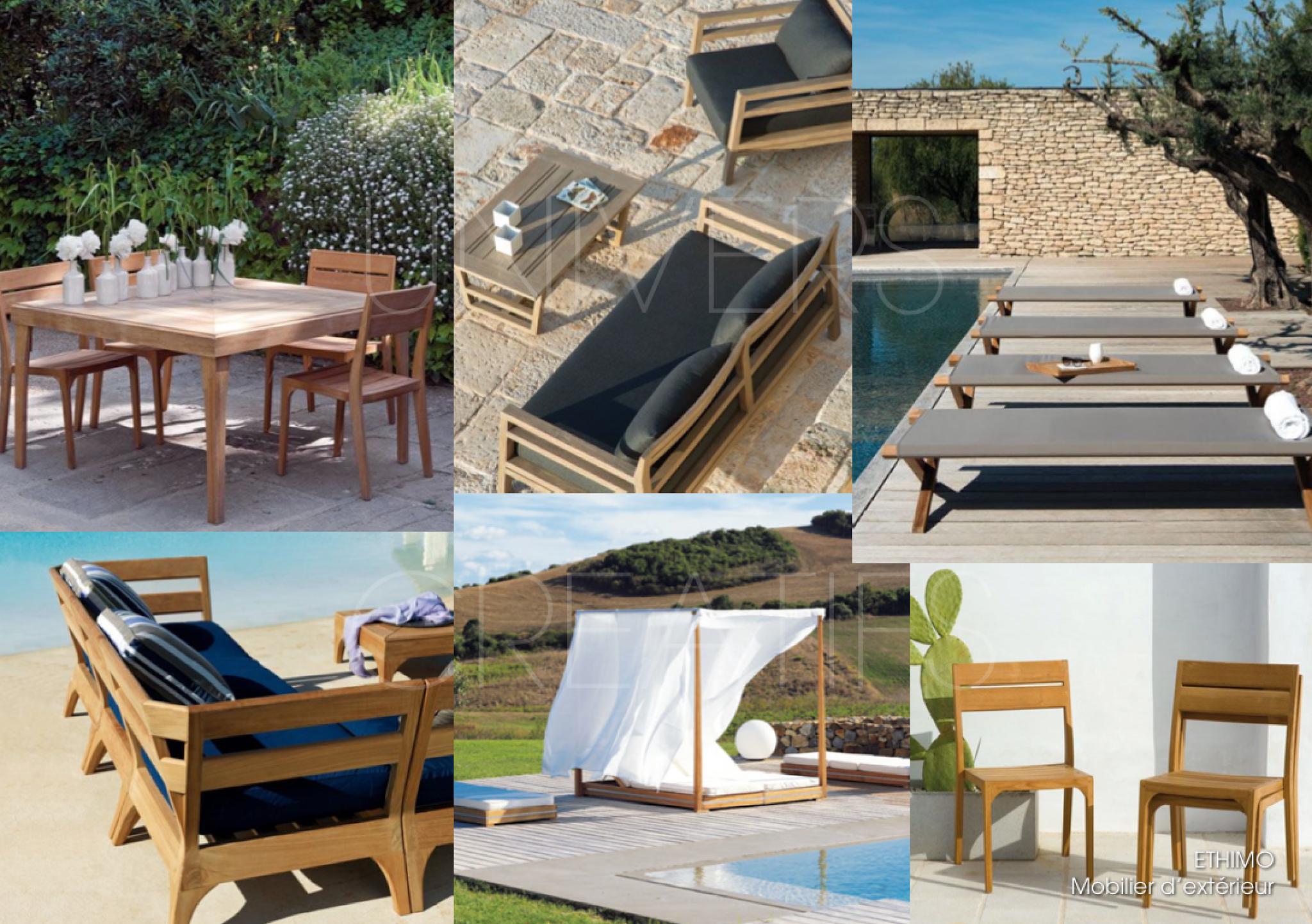 Affordable ethimo meubles de jardin with mobilier exterieur design italien - Mobilier jardin oriental saint denis ...