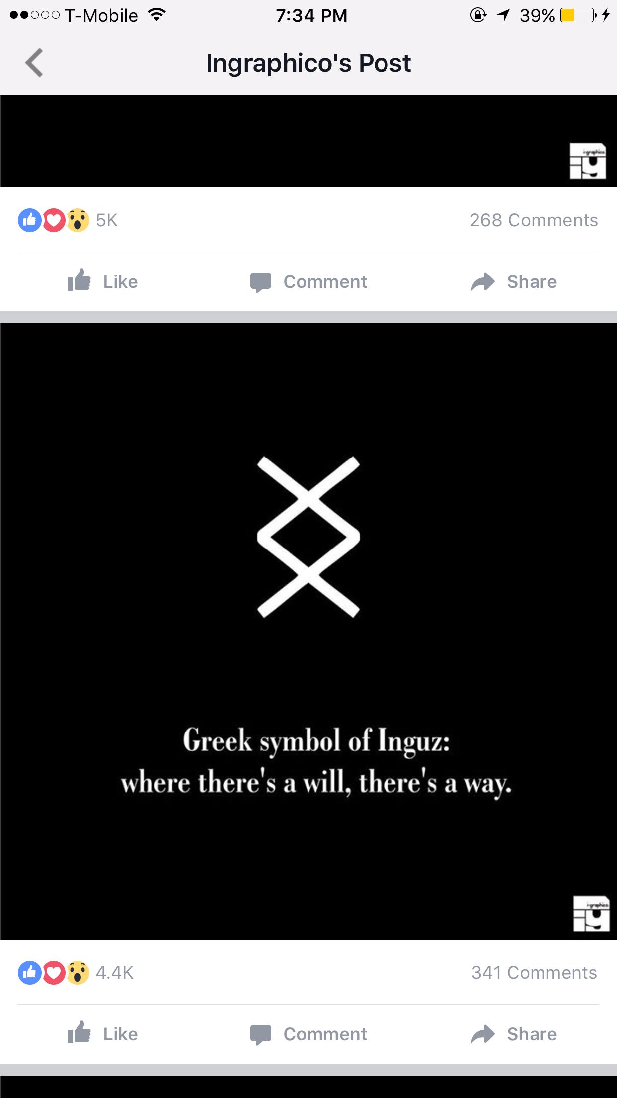 Símbolo Griego De Inguz Donde Hay Voluntad Hay Una Manera