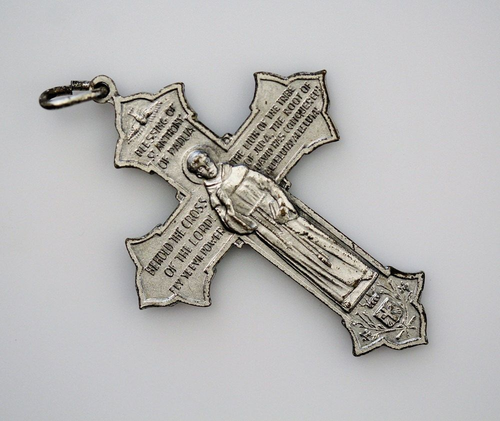 Vintage franciscan pious cross pendant blessing of saint francis vintage franciscan pious cross pendant blessing of saint francis of assisi blessing of saint anthony of padua by on etsy biocorpaavc