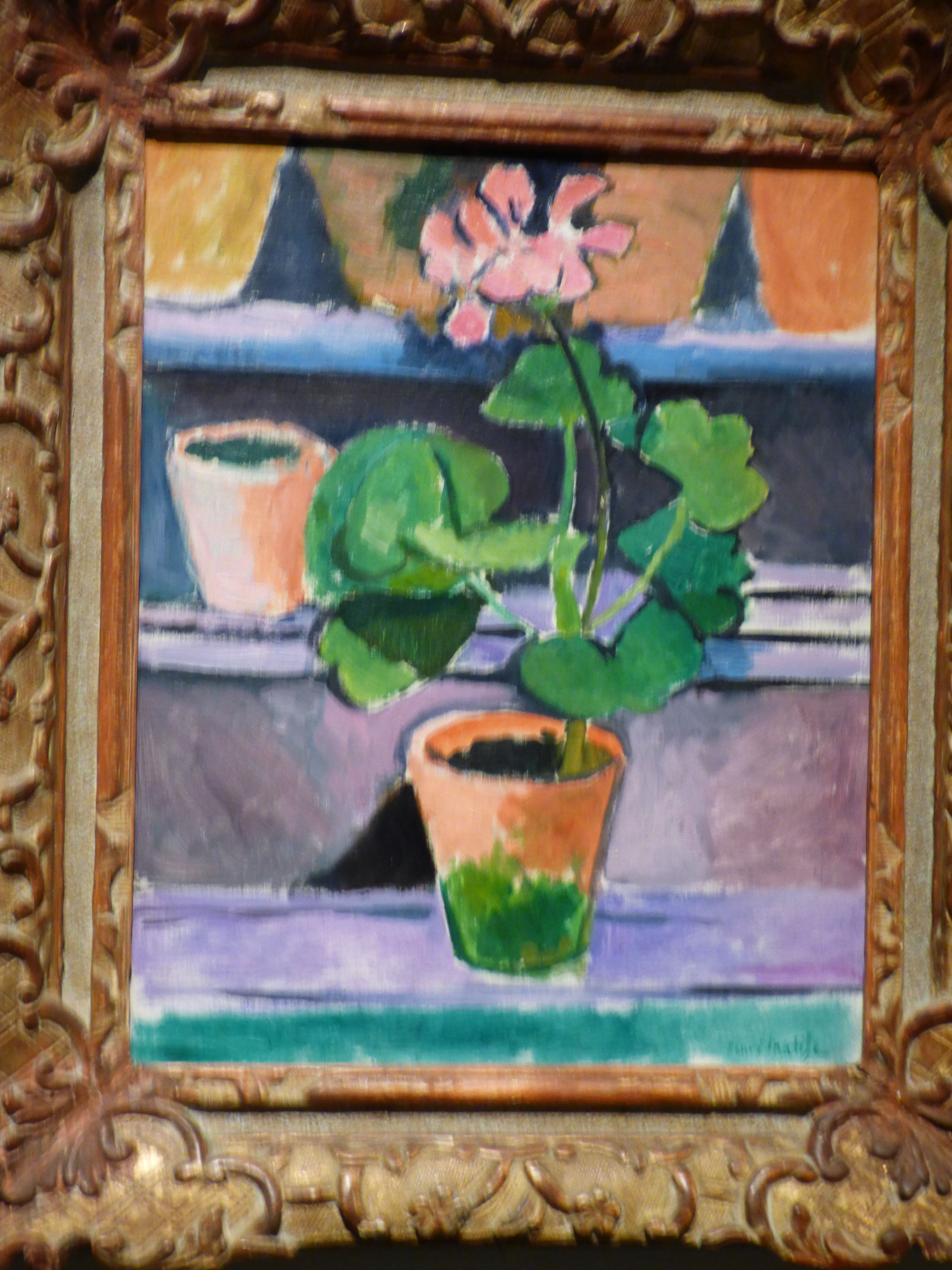 Henri Matisse Pot of Geranium 1912 Oil on linen Chester dale ...