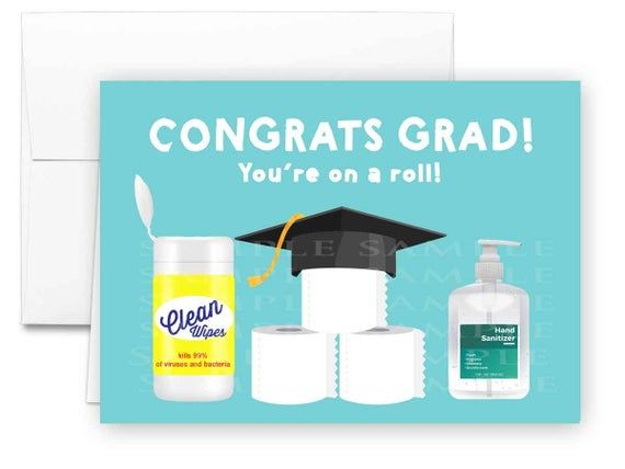Photo of Graduation card 2020 you're on a roll Quarantine graduation card funny Printable greeting card, Social distance card Toilet paper graduation