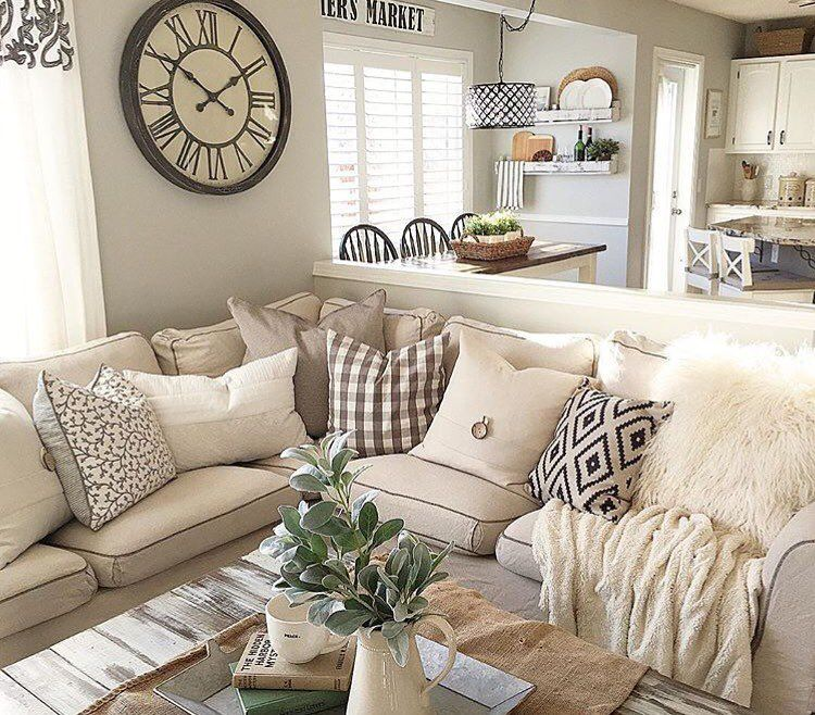 Really Like The Light Furniture Colors With The Dark Accents In Decor Pillows Chairs Etc Find This Pin And More On Living Room