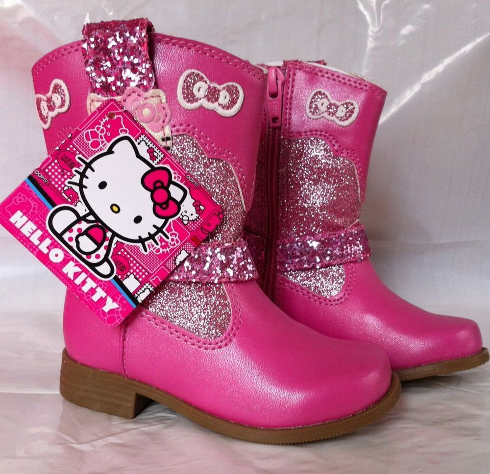 5c31e95eb27 HELLO KITTY COWGIRL/BOY BOOTS Lil NICOLE Pink Glittery NIBWT TODDLER ...