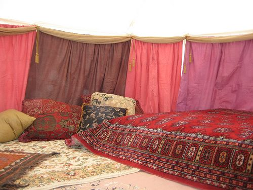 How To Hang Fabric On Walls home decor lessons i learned from burning man | apartment walls